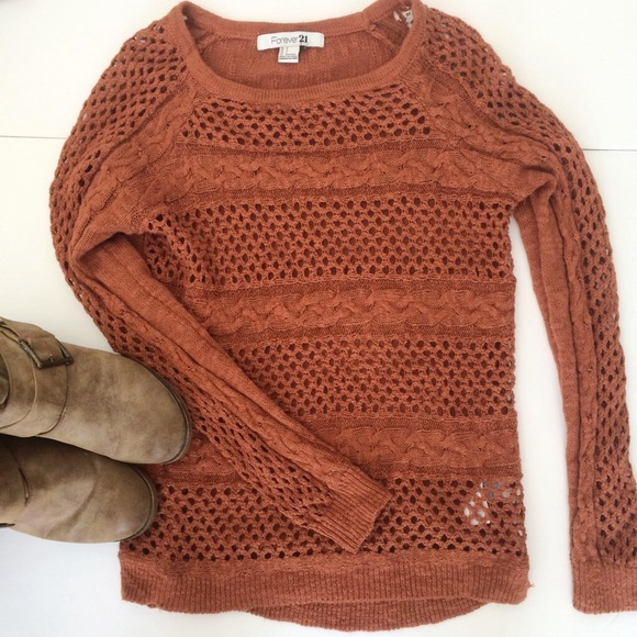 691b4d9125dec1 Forever 21 Sweaters | Rust Colored Sweater | Poshmark